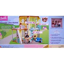 Juguete Barbie Familia Feliz Suena Como Principal Casa Inte