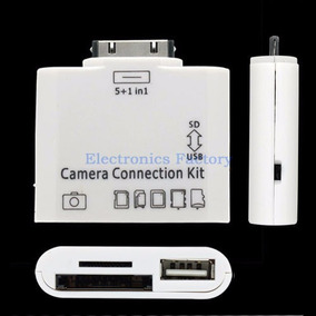 Kit Adaptador Leitor 5x1 Apple Ipad 1 2 3 Usb Cartão Sd