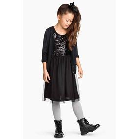 Vestido De Tul Con Lentejuelas H&m - Talles 8/10/12/14 Años