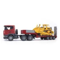 Bruder Toys - Bruder Mack Granite Flatbed Truck W/jcb Loader