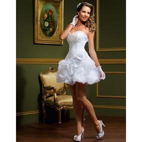 Lindo Vestido De Noiva Curto