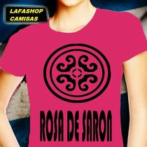 Camiseta Rosa De Saron Camisa Baby Look Feminina Jesus Banda