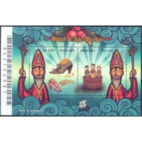 Selos Brasil 2014 Bloco 180 Natal De São Nicolau Papai Noel