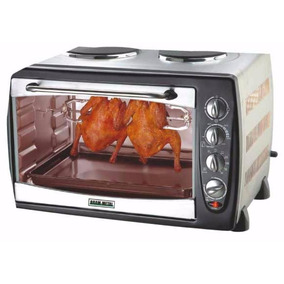 Horno Cocina Electrica Brammetal Piedra Hornallas Spiedo 42l