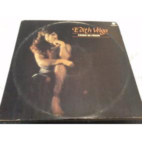 Lp Edith Veiga 1987 Como Se Fosse (autografado)