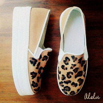 Panchas Zapatillas High Plataforma Animal Print Colores