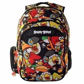 Mochila Infantil Angry Birds Meninos Escolar Costas Grande