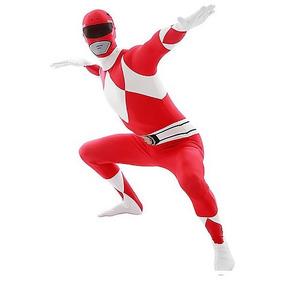 Disfraz Talla Joven Extra Chica Hombre Power Rangers Rojo