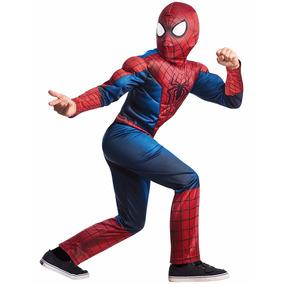 Disfraz De Spiderman Niños Hombre Araña Halloween Musculos