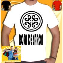Camisa Rosa De Saron Camiseta Banda Gospel Jesus Religiosa