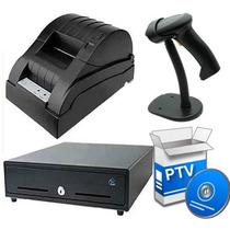 Kit Punto De Venta Cajon +lector Base+ Miniprinter +programa