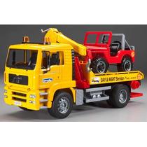 Caminhão Gigante De Reboque Com 4x4 Vehich Bruder Brinquedo
