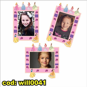 Adesivo Infantil P Montagem Com Foto Tema Princesas Will0041