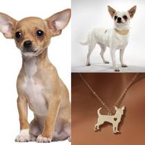 Collar De Perro Chihuahua Joyería Cadena Forma De Perro