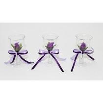 30 Tacinha Mini Taça Lembrancinha Casamento - Roxo Com Lilas
