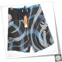 Board Short (bermuda) Hic Hibs-1012 Preto/azul Surf Wear