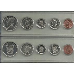 Serie 5 Monedas Panama Año 2008 Sin Circular En Estuche