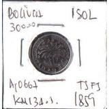 Bolivia 1 Sol 1859 Ts Fs Km134.1
