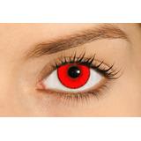 Lente De Contato Vermelha Soflex Hype Solótica *halloween