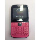 Aparelho Samsung Ch@t 322 Rosa C 3222 Dual Chip Qwerty 1.3mp