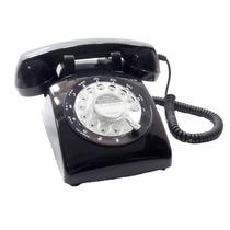 Telefone Antigo Inglês Vintage Retro Preto