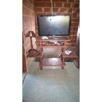 Mesa tv de algarrobo muebles y bibliotecas muebles para for Mesa algarrobo usada