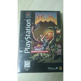Doom Playstation Primeira Edição Cx Grande Super Raro.