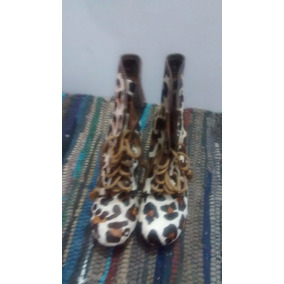 Vitamina-uma Botas Cuero 100% Animal Print