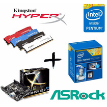 Kit Proc G3260 + Asrock H81m-vg4 + Mem 4gb Kingston Hyperx