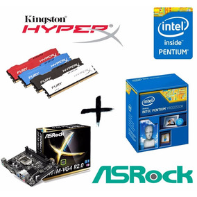 Kit Proc G3260 + Asrock H81m-vg4 + Mem 4gb Kingston Hyperx