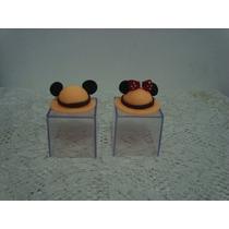Lembrancinha Aniversário Chá Mickey Safari Caixa Acrilico