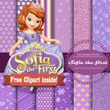 Kit Imprimible Pack Fondos Princesa Sofia Disney 1 Clipart