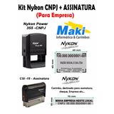Kit De Carimbos Automático Nykon 355 Cnpj+csi-15 Assinatura