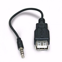 Cabo Adaptador P2 X Usb Femea Automotivo Mp3 Mp4 Auxiliar