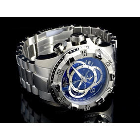 Relógio Invicta 5526 Excursion Reserve Prata Fundo Azul Ex3