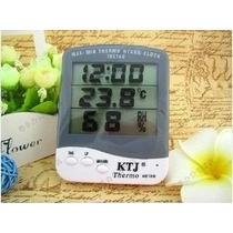 Termometro, Higrometro Y Reloj Lcd (ta218) Meteorologia