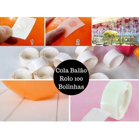 Cola Balão Bexiga Decora Festa Decoração Adesivo Fita 100