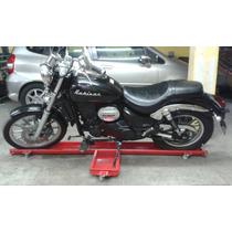 Park Moto Plataforma Para Moto C/ Rodízios Garagem E Oficina