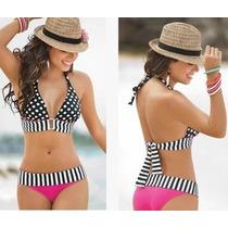 Traje De Baño Bikini Moda, Sexy Lunares Rayas Victoria S