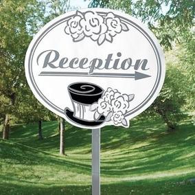 Anuncio Para Jardin Recepcion Y Carro Pancarta Visible Boda