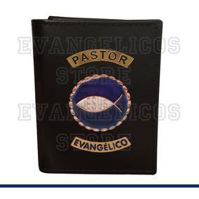 Carteira Pastor Evangélico Super Luxo A01