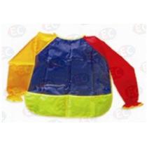 Edu-085 Bata De Plástico Preescolar Para Pintar De Eduplas