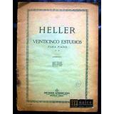 Partitura Heller 25 Estudios Piano Op.45 Ricordi Americana