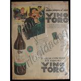 Afiche Antiguo Publicitario Vino Toro. Art. 22.462