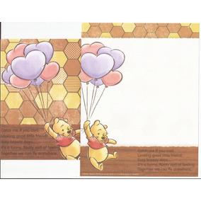 Lote De Papéis Carta Importados *pooh* - Lote 03