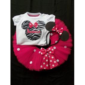 Conjunto Tutu Cumpleaños Minnie Fiesta Disfraz 1 A 8 Años