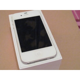 Iphone 4 Branco 8gb Seminovo + Caixa (carregador E Fone)