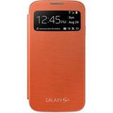 Capa S View Galaxy S4 Original - Laranja | Novo - Lacrado.