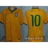 Camisa Da Seleção Brasileira 2014 N#10 Neymar