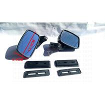 Espejo Automotriz Universal Tunix Fibra De Carbono Y Cromo
